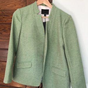 Green tweed blazer